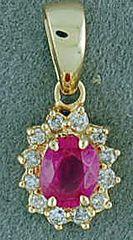 1/2ctgw Pink Sapphire and Diamond Pendant