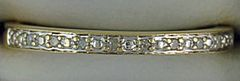 2.1mm Wide 1/20ctw Diamond Band