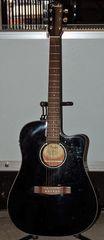 Fender CD-140SCE/BK Acoustic-Electric Guitar