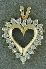 1/3ctw Diamond Heart Pendant
