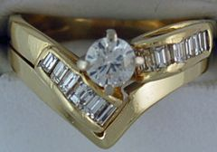 Ladies 3/4ctw Diamond Wedding and Engagement Set
