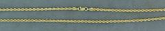 2.7mm Wide and 26 Inch Long Rope Chain