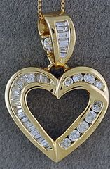 5/8ctw Diamond Heart Pendant on a Chain