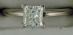 1ct Princess Cut Diamond Solitaire Ring