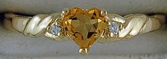 Ladies Diamond and Citrine Ring
