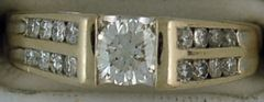 Ladies 1ctw Channel Set Diamond Ring