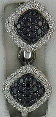3/8ctw Black and White Diamond Earrings