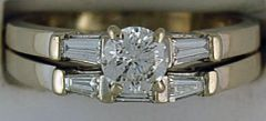 Ladies 1-1/10ctw Diamond Wedding and Engagement Set