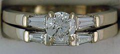 Ladies 1-1/10ctw Diamond Wedding and Engagement Set