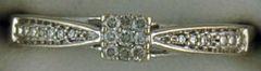 Ladies Round Cut Diamond Promise Ring