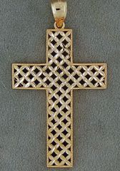 Basket Weave Cross Pendant