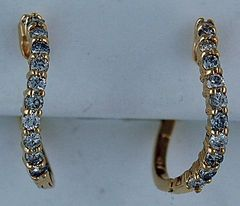 5/8ctw Diamond Curved Hoop Earrings