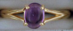 Ladies Oval cut Amethyst Ring