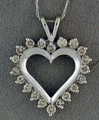 3/4ctw Diamond Heart Pendant on a Chain