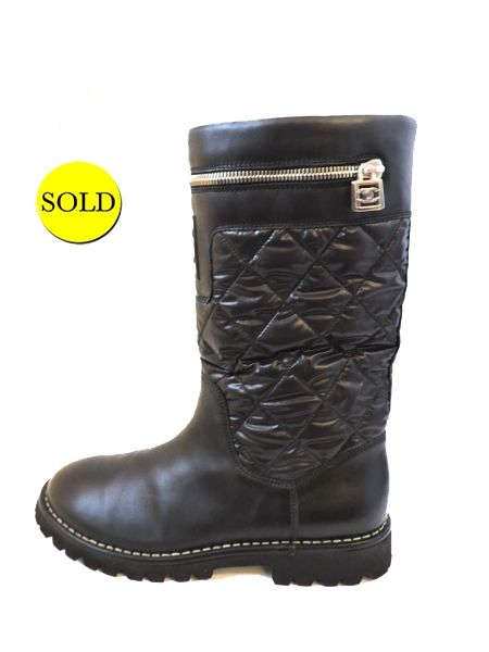 New Chanel Quilted Boot Size 41 It 11 Us Kmk Luxury Consignment