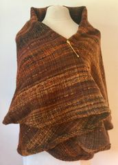 CAPE. Handwoven Wool Cape 039