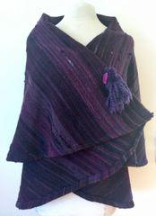 CAPE. Handwoven Wool Cape 040