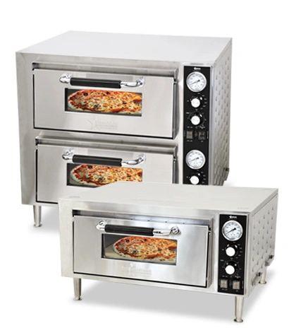 Omcan Countertop Pizza Oven-Double Chamber-3200kw | Colorado ...