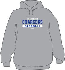 Baseball Hoodie with last name on back