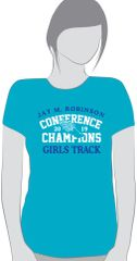 JMR Girl's Championship Track and Field T-Shirts (Youth and Adult sizes)