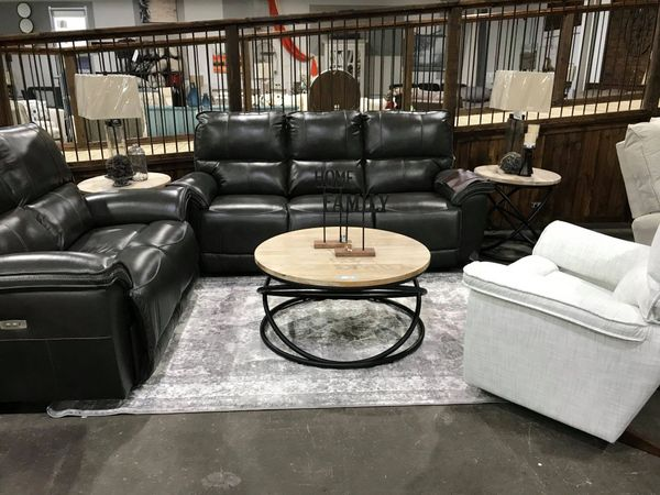 La-Z-Boy Norris Power Top Grain Leather Reclining Sofa | Furniture ...