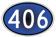 Oval 406 Sticker