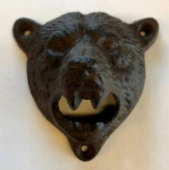 Grizzly Cast Iron Wall Mount Bottle Opener