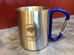 Stainless Steel Bison Mug (assorted handle color)