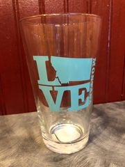 Love Montana Pint Glass