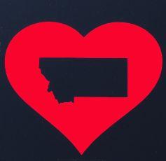 I Heart MT Sticker Red