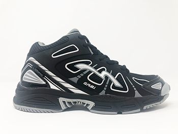 VB RAGS LIBRE | High Performance Volleyball Shoe | Black with Silver | Midtop