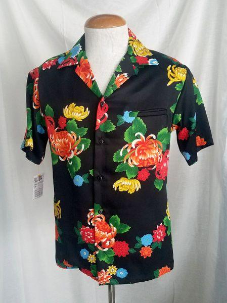 bf75f8b1 Men's 1980s Ui-Maikai blue flowered Hawaiian Shirt | Vintage Swank -  Vintage Clothing, Mid-Century Modern Furniture