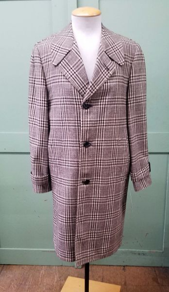 3dc64738829 Men s 1950s Fashion Park Litecote brown hounds tooth wool coat ...