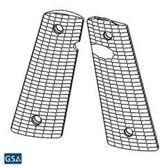 1911 PX-12 Standard Size - Pistol Grips (Streamlined Pattern, Semi-Gloss Black)