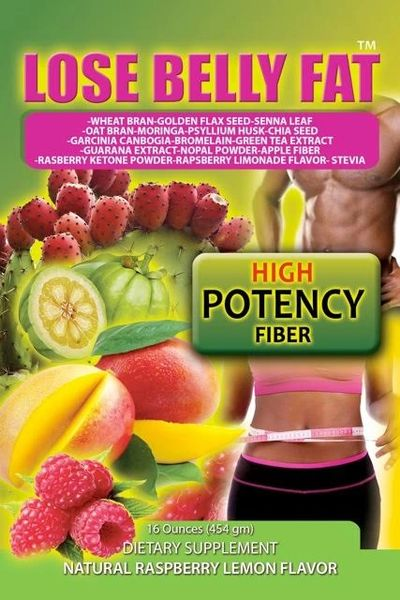 LOSE BELLY FAT POWDER - TWELVE BAGS x 16 oz EACH - 1 CASE
