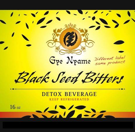 Black Seed Bitters with Moringa Detox Tonic - 1 Bottle of 16 Ooz.