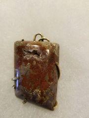 orbital jasper with crystals in brass
