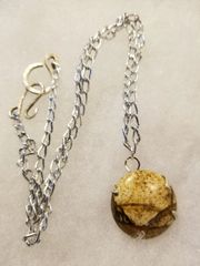 wrapped picture jasper with chain