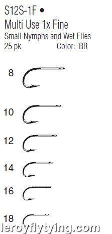 Gamakatsu Fly Hooks S12S-1F Multi Use 1X Fine