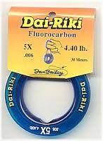 Dai-Riki Fluorocarbon Tippet 5X 4.4lb