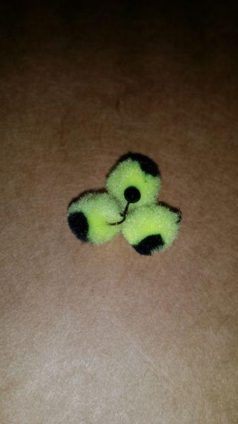 Bumble Bee Glo Ball Mini Jig