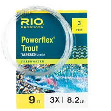 Rio Powerflex Tapered Leader 3 Pk 9 ft 7X 2.4 lb