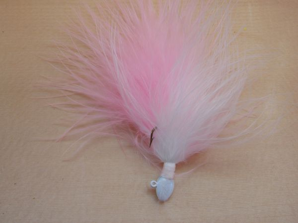 Weavers Premium Marabou Jigs / Powder Puff Pink & White