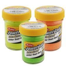 Berkley PowerBait Extra Scent Glitter Trout Bait Chartreuse