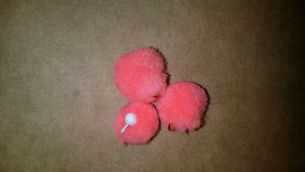 Shrimp Pink Glo Ball Mini Jig