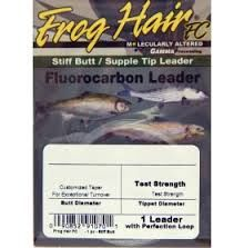 Frog Hair Fluorocarbon Leader 9 ft 5X 4 lb