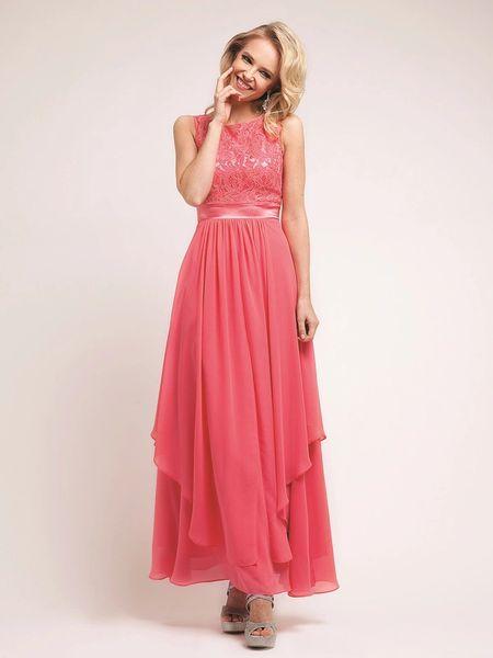 Dress Formal Dress 7769 Sleeveless Evening Dress With Handkerchief
