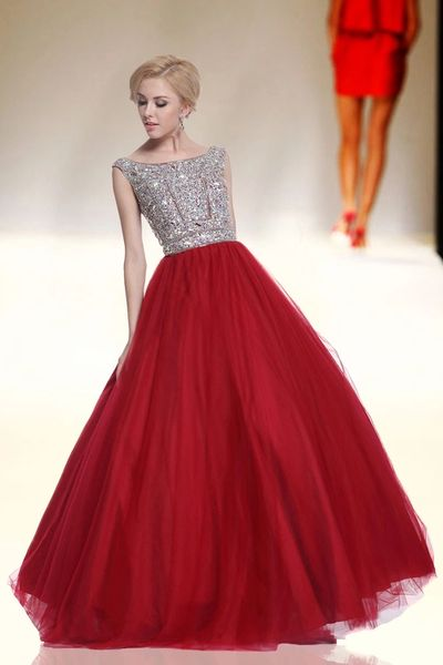 foryoudress 1884 Embellished Cap Sleeve Ball Gown | pinknyellow