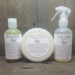Rice Water Shampoo, Conditioner + Leave-In Serum Set