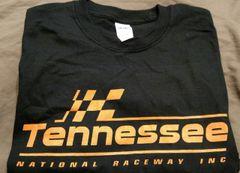 Black and orange logo T-shirt